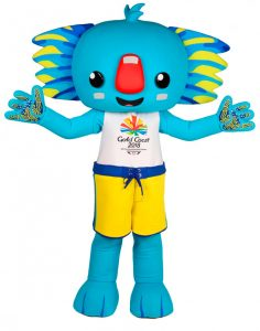 Borobi 2018 Commonwealth Games mascot © &™GOLDOC